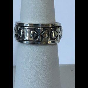 Spinner Shamrock Sterling Silver Ring